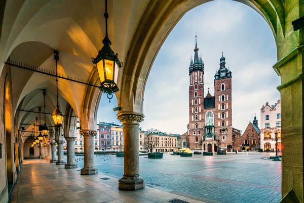 плоштадот во Краков одмор во Септември