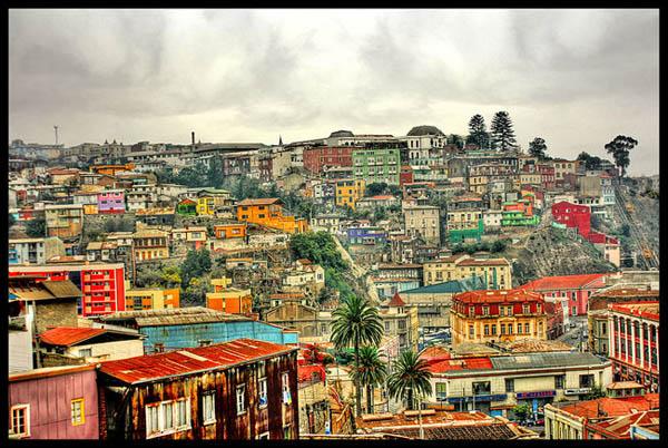поглед на улици во Валпаризо