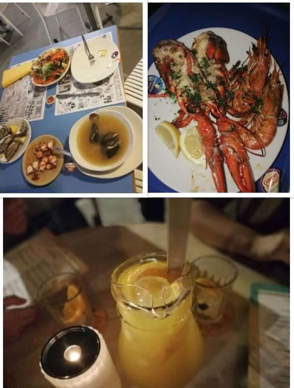 Барселона морска храна и сангрија